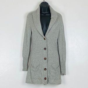 Eileen Fisher Gray Wool Cashmere Long Cardigan S